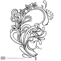 Floral Ornament Vector Graphics by 123freevectors