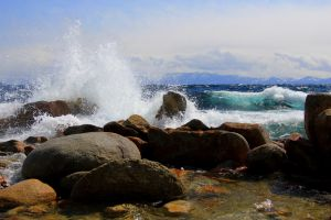 Windy Afternoon at Tahoe by sellsworth