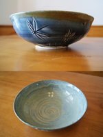Blue Wetlands Themed Ceramic Bowl by ashynekosan