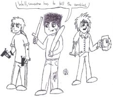 Zombie Hunters by uhnevermind