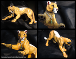 Kilae Cougar Sculpture by WildSpiritWolf