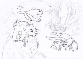 Creatures from Tendrus 2 by GenevieveMeuniere