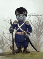 Alexei The Russian Blue Cossack by cat-on-mars