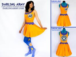 Son Goku Dragonball Z Printed Cosplay Dress by DarlingArmy