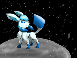 Shiny Glaceon by MochiFries