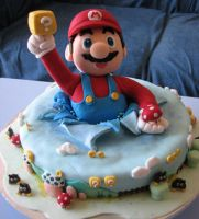 Super Mario Cake by FanOFArt103