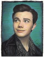 Chris Colfer - Oil Pastels by NataliesCourageClub