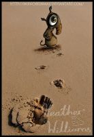 Uggy in sand by Munchkinmay