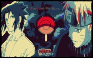 Naruto/Sasuke _Bonds We Share_Wallpaper by Kravon1