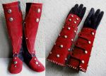 Shrouded Boots and Bracers by Xavietta