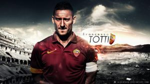 Francesco Totti Wallpaper 2014-15 (AS Roma) by AlbertGFX