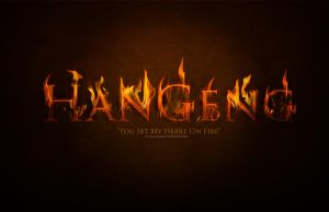 Hangeng - Fire thypography by NileyJoyrus14