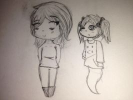 Chibi Ashton and Kellie by fnafcoolness