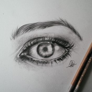 Eye in graphite by annnelies
