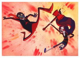 Lord of Evil vs. Marceline by aisleenromano
