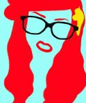 Minimalistic Drawing Of Hipster Ariel by alittletwirler