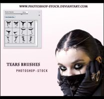 Tears Brushes by photoshop-stock