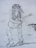 Drawing of Slash by deviantmike423