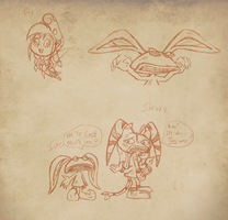 Real Monsters N Stuff Sketches by Starimo