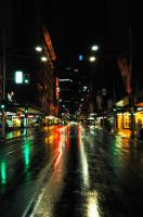 Midnight Sydney street by below-0