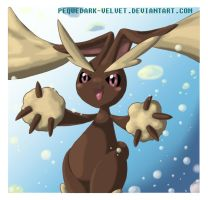 LOPUNNY S HIDDEN POWER by PEQUEDARK-VELVET