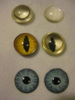 Fursuit Eye Examples - 3cm by VenturertheHybrid
