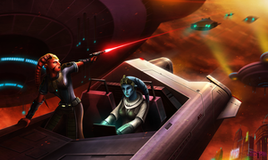 Twi'lek Smugglers  chased on ...Nal Hutta by Aliens-of-Star-Wars