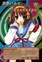 Yugioh! Orica: Suzumiya Haruhi Monster Card by animereviewguy