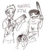 Humans... FTW by nikkiswimmer
