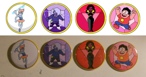 Steven Universe Buttons by ToonSkribblez