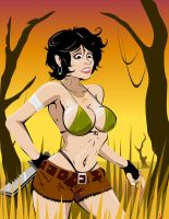 Jungle Babe Pin Up. by indie-illustrator