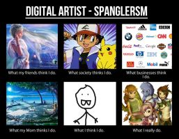 Meme- Digital Artist, Spanglersm by hannahspangler