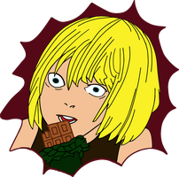 Mello's face by Hedgehog-Russell