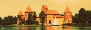 Trakai castle by drunkbunneh