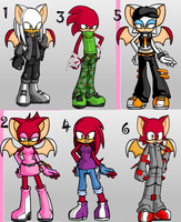 free knuckles x rouge adopts .closed. by Odscene