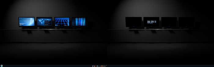 The Blue Desktop - Rainmeter Skin by AndyLight