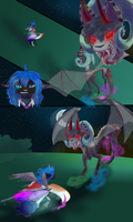 STRIEF~ Luna fight Cotten by Crazy-Luna