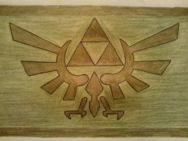 The Hylian Crest by MesophaneGryyn