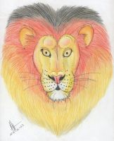 127) Lion head by Magicull-Delesia