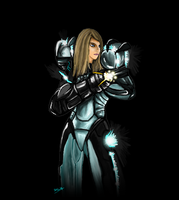 Samus Aran Tron version by Dark-smourbiff