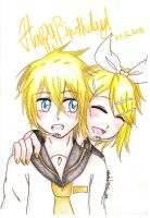 Happy Birthday Rin and Len! by AnImAtEd-MeDoW