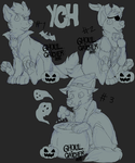 Chibi Halloween YCH's (CUSTOMS ONLY) by Ghoul-catcher