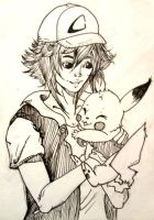 Ash+Pika Commish by cattuccino