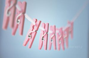 pink pegs by BeciAnne
