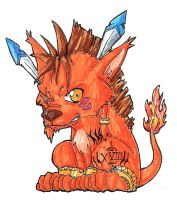 Red XIII chibi by shadow-shasuka