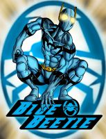 Blue Beetle with Logo by BradMatthews