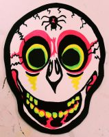 Candy Skull Vintage Halloween Mask by Insert-Name-YouIdiot