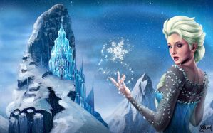 Elsa of Frozen Disney by AYKenny