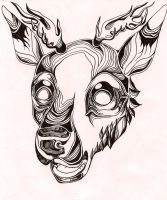 Stag by ClaraBacou