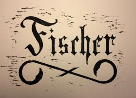 Fischer Woodcut by Fischer-Art